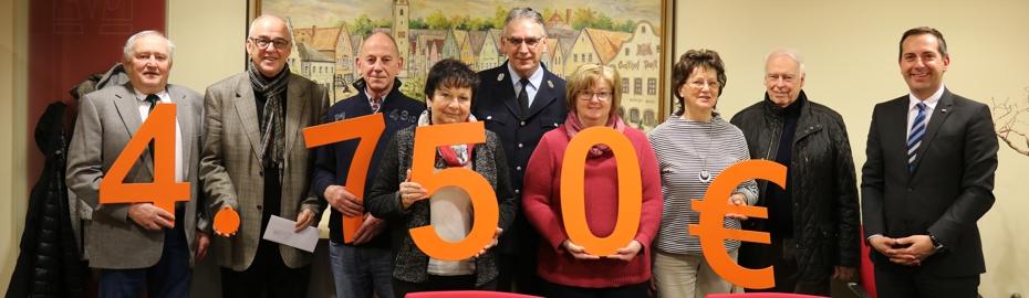 4.750 Euro Spenden für Vereine